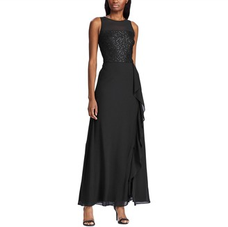 Chaps Women's Sleeveless Georgette Evening Gown