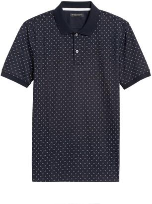 Banana Republic Luxury-Touch Print Polo Shirt