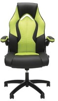 Ziggy Ergonomic Gaming Chair Ebern Designs Upholstery Color: Faux Leather Green