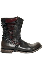 John Varvatos 20mm Lace Up Leather Pirate Boots