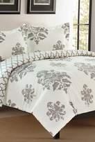 California Design Den by NMK Distress Brocade Full/Queen Sized 3-Piece Comforter Set - Grey