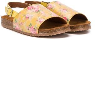 Pépé Floral-Print Flat Sandals