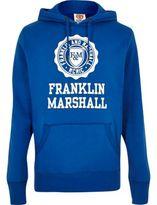 River Island MensBlue Franklin & Marshall print hoodie