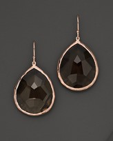 Ippolita Rosé Rock Candy® Large Teardrop Earrings in Smoky Quartz