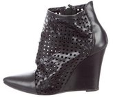 Sandro Laser Cut Ankle Boots