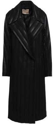 Roberto Cavalli Double-breasted Wool-blend Felt Coat