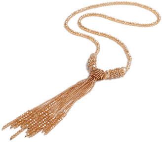 Amrita Singh Women's Necklaces Gold - Goldtone Shirin Beaded Tassel Pendant Necklace