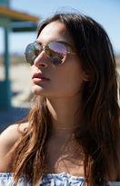 La Hearts Rose Gold Mirror Aviator Sunglasses