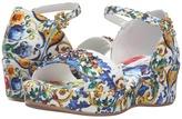 Dolce & Gabbana Escape Maiolica Floral Wedge (Little Kid/Big Kid)