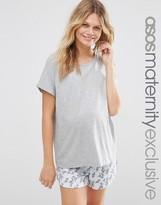 Asos Tee and Floral Print Short Pajama Set