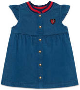 Gucci Baby denim dress with heart