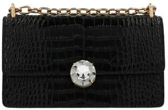 Miu Miu Embossed Jewelled Snap Shoulder Bag