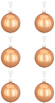 John Lewis Mitsuko Metallic Baubles, Set of 6, Copper