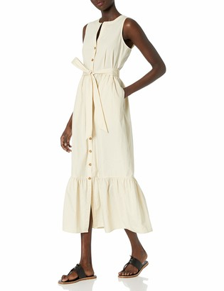 Calvin Klein Women's Maxi Oversize Shirt Dress with Flounce Hem