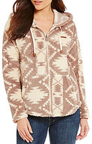 Billabong Over Head Tribal Print Zip-Front Hoodie