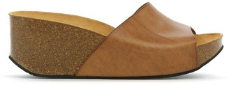 Df By Daniel Tavernola Tan Leather Wedge Mules