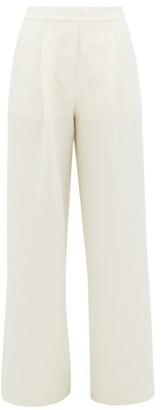 ALBUS LUMEN X Woolmark Solis Merino-blend Wide-leg Trousers - Cream
