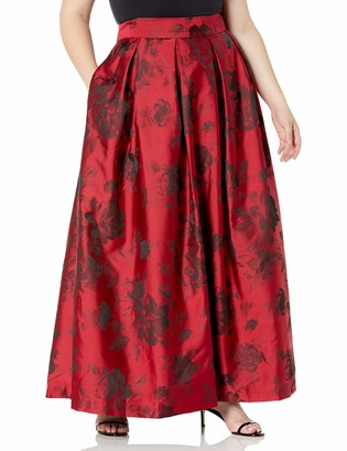 Jessica Howard JessicaHoward Women's Plus Size Pleated Ballgown Separate Skirt with Inset Waistband