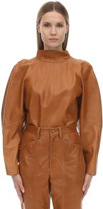 Isabel Marant CABY LEATHER TOP