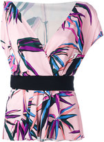 Emilio Pucci palm trees print top