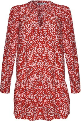 Glamorous Petites Womens **Floral Printed Tunic Dress By Glamorous Petite - Red
