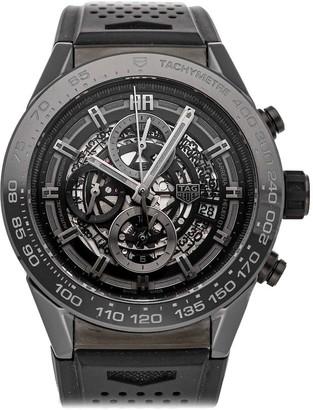 Tag Heuer Tag Black Ceramic Carrera Chronograph Calibre 01 CAR2A90. FT6071 Men's Wristwatch 45 MM