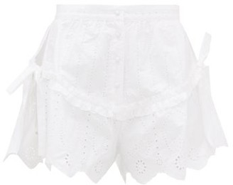 Sir - Delilah Broderie-anglaise Cotton-poplin Shorts - White