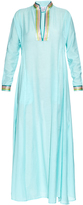 Thierry Colson Parvati embroidered cotton and silk-blend dress