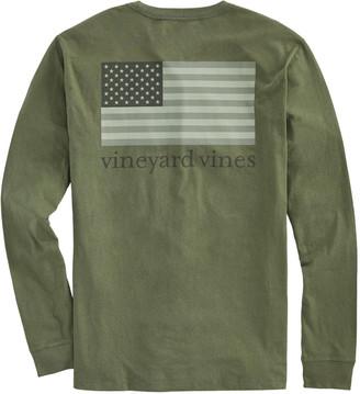 Vineyard Vines Tonal Flag Long-Sleeve Pocket T-Shirt
