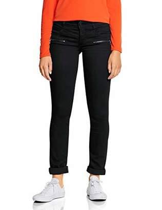 Street One Women's 372562 Jane Casual Fit Slim Jeans, (Black Soft wash 11546), W27/L30 (Size: 27)