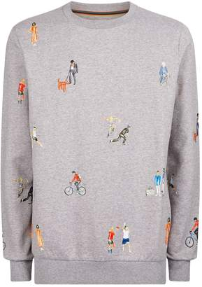 Paul Smith Cotton Motif Sweatshirt