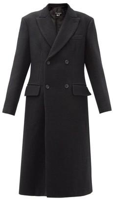 Junya Watanabe Peak Lapel Linen-blend Twill Coat - Black