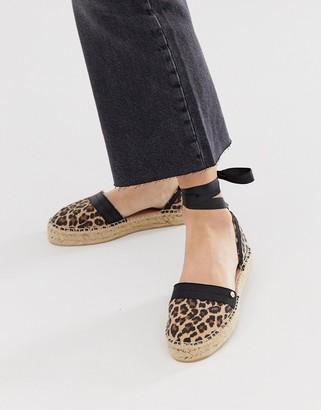 Miss KG tie leg flatform espadrille