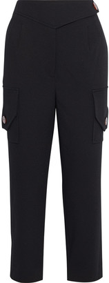 Nicholas Cargo Cropped Twill Tapered Pants