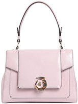 Trussardi Lovy Polished Leather Top Handle Bag