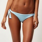 River Island Womens Light blue tie side bikini bottoms