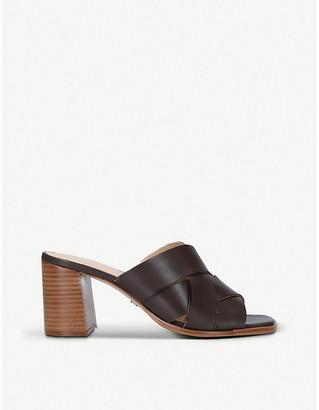 Carvela Glass block-heel leather mules