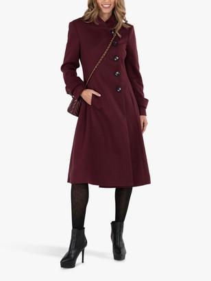 Jolie Moi Longline Button Flared Coat
