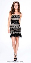 Mon Cheri Shorts Sequin Printed Feather Dress