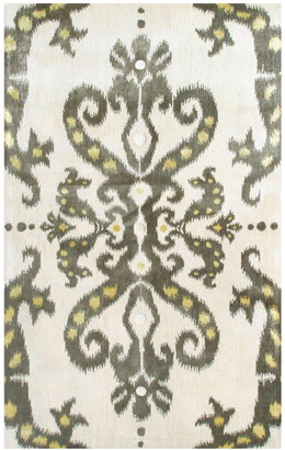 The Rug Market Ethnic Damask Hand-Made Wool & Silk Contemporary Rug