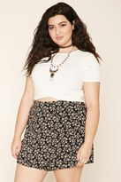 Forever 21 FOREVER 21+ Plus Size Floral Wrap Skirt