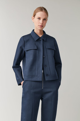 Cos Short Jacket With Flap Pockets