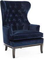 Kim Salmela Calhoun Wingback Chair, Indigo Velvet