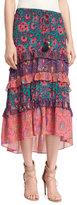Figue Sarita Tiered Midi Skirt, Multi