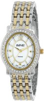 August Steiner Women's AS8043TTG Dazzling Diamond Oval Bracelet Watch