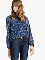 Lucky Brand Damask Raw Edge Top