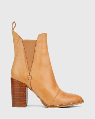 Wittner - Women's Brown Heeled Boots - Honesty Block Heel Gusset Ankle Boots - Size One Size, 39 at The Iconic