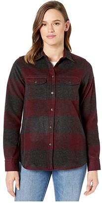 Fjallraven Canada Shirt (Red) Women's Long Sleeve Button Up