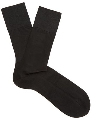 Falke N4 Silk Socks - Black