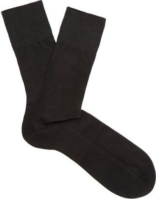 Falke N4 Silk Socks - Mens - Black